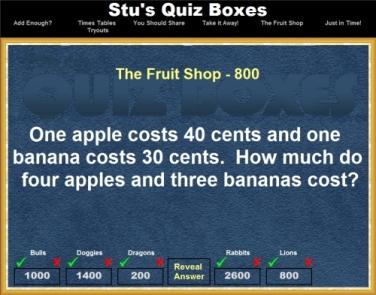 Screens   Stu's Quiz Boxes!